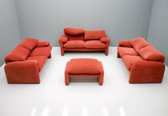 Maralunga Living Room set by Vico Magistretti for Cassina, Italy 1973