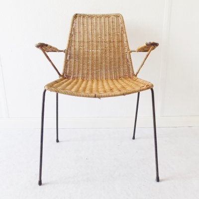 Gian Franco Legler Wicker Basket chair, 1950s