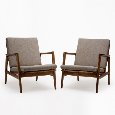 Pair of Stefan type 300-139 arm chairs by Swarzędzka Furniture Factory, 1960s