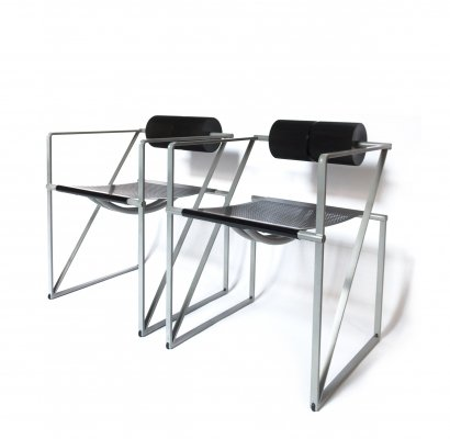 Pair of Seconda Chairs by Mario Botta for Alias, 1980's