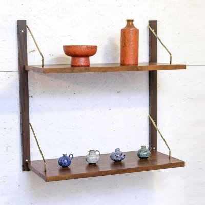 Walnut Royal System Shelves by Cado, 1960s