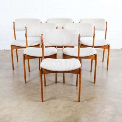 Set of 6 Model 49 dining chairs by Erik Buch for OD Møbler, 1960s