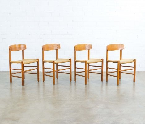 Set of 4 J39 dining chairs by Børge Mogensen for FDB Møbler, 1960s