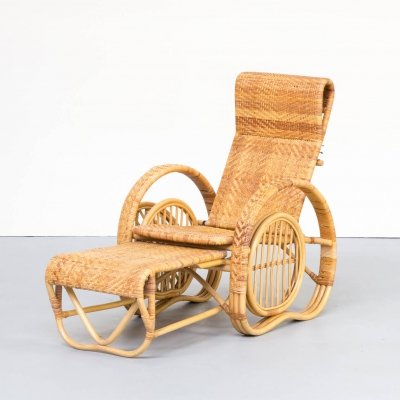 70s rattan lounge chair for de Ridder Amsterdam