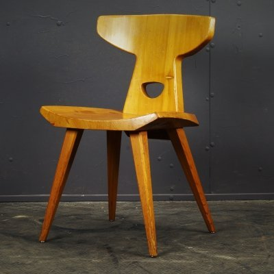 Brutalist Oak Chair, 1970s