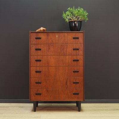 Mid-century Danish design teak chest of drawers