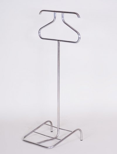 Bauhaus Chromed No. V17 Clothes Valet Stand / Dressboy by Robert Slezák, 1930s