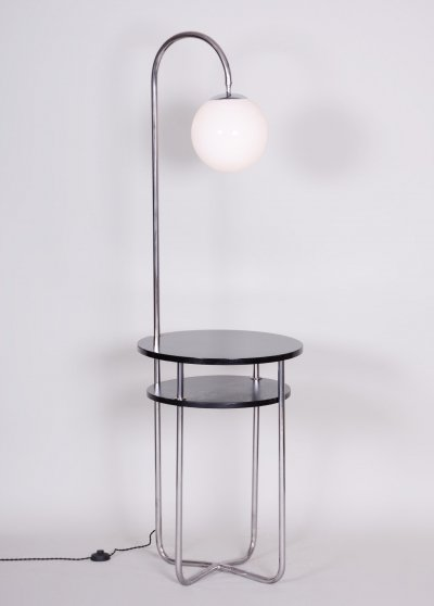 Czech Bauhaus Chrome Floor Lamp by Robert Slezák, 1930s