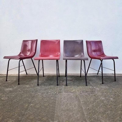 Set of 4 Synthesis desk chairs by Ettore Sottsass for Olivetti, Italy 1973