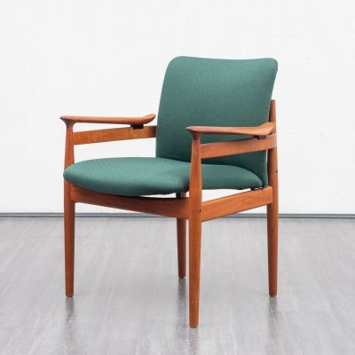 Danish Midcentury Model FD192 Armchair by Finn Juhl for France & Son