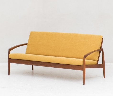 Paper knife 3-Seater sofa by Kai Kristiansen for Magnus Olesen, Denmark 1960