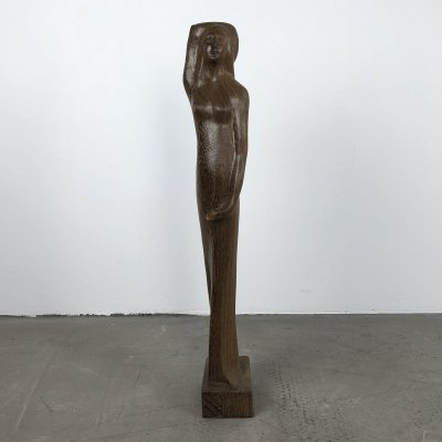 Large Hand Carved Sculpture of a Woman, 1930s