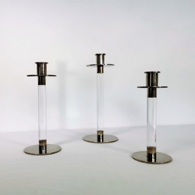 Set of 3 Dutch Candle holders by Koninklijke Begeer, 1980's
