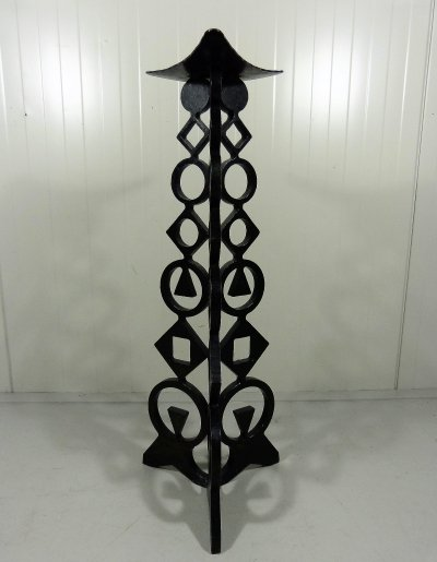 Large cast iron floor candle holder, 1960's
