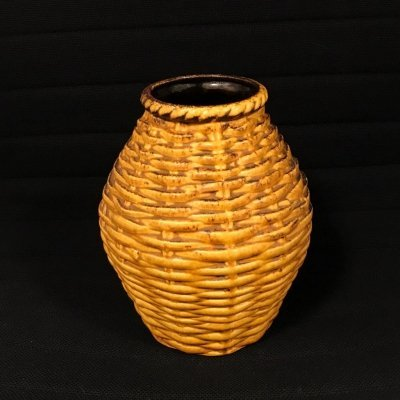 Rare model Basket pattern vase by Bay Keramik