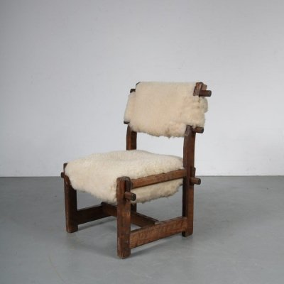 Scandinavian Brutalist chair, 1950s