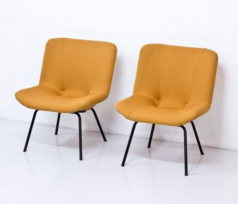 Pair of Finnish 'Lehti' Easy Chairs by Carl Gustaf Hiort af Ornäs