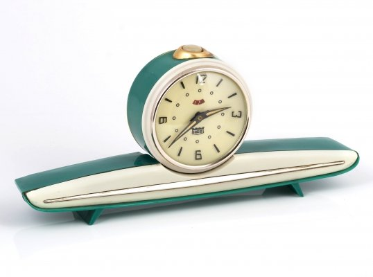 Slavia Deluxe Tabletop clock by HES, 1960s