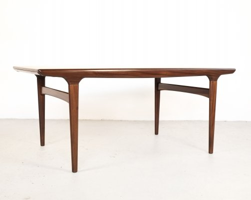 Extendable dining table in teak by Johannes Andersen for Uldum, 1960s