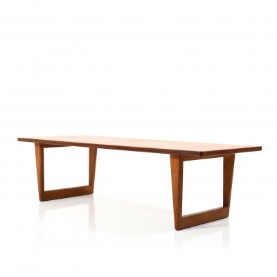 Danish Teak & Oak Sofa Table by Borge Mogensen for Fredericia Furniture, 1950s