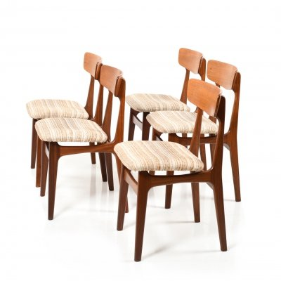 Set of Five Farstrup Dining Chairs in Teak, 1960s