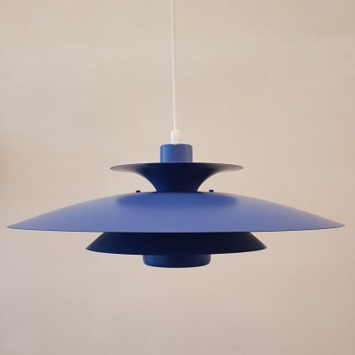 Danish blue 'Donau' pendant by Jeka Metaltryk, 1970s