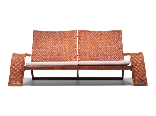 Marzio Cecchi Post-modern Leather 2-Seater Couch, 1970s