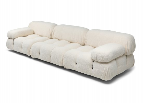 Camaleonda Bouclé Wool Sectional Sofa by Mario Bellini, 1970s
