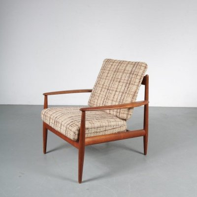 Danish lounge chair by Grete Jalk for France & Daverkosen, 1950s