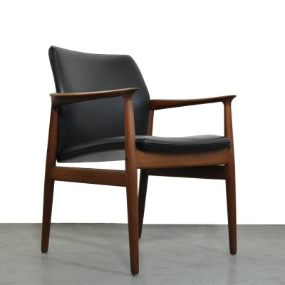 Teak armchair by Grete jalk for Glostrup, Denmark 1960s