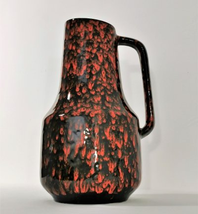 Large Drip Glazed Ceramic Scheurich Vase