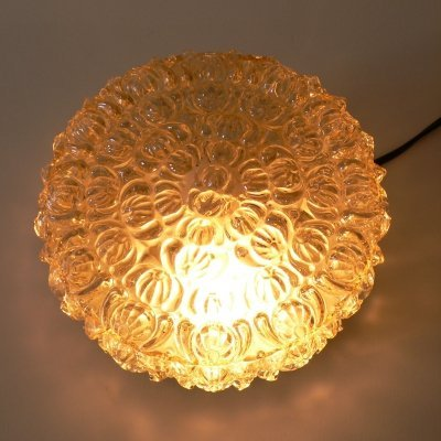 Glass Flush Mount Sconce Wall / Ceiling Lamp, 1960s