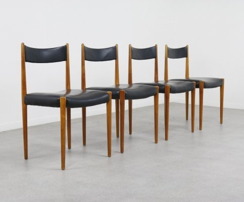 Set of 4 Lübke dining chairs, 1960s