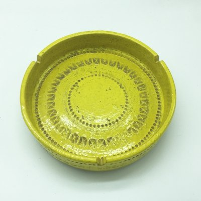 Rare Yellow Ashtray by Aldo Londi for Bitossi, 1960s