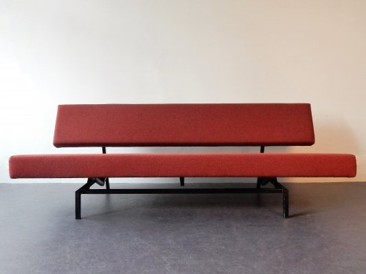 Red BR03 three-seater bed sofa by Martin Visser for 't Spectrum, 1960's