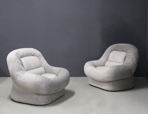 Pair of 'Nuava' armchairs by Emilio Guarnacci & Felix Padovano for 1P, 1960s