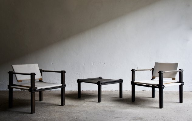 1960's Farmer Chairs And Coffee Table by Gerd Lange for Bofinger