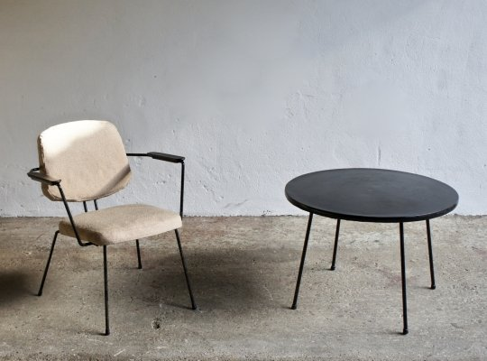 1950's Armchair And Side Table by Rudolf Wolf for Elsrijk