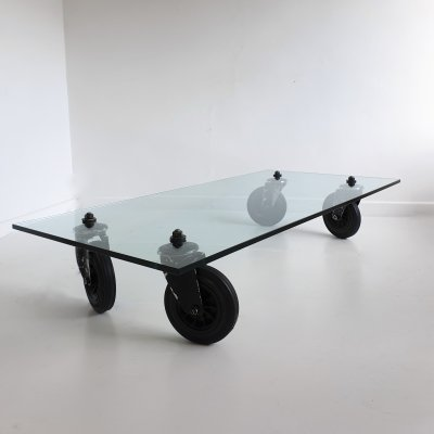 Glass Coffee Table by Gae Aulenti for Fontana Arte, Italy c.1980
