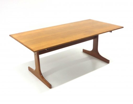 Rare vintage coffee table / bench by Karl Erik Ekselius for J. O. Carlsson, Vetlanda 1960s