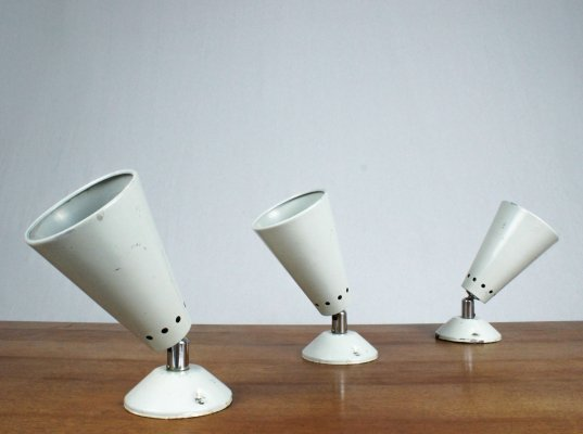 Trio of Philips wall lamps, 1960s