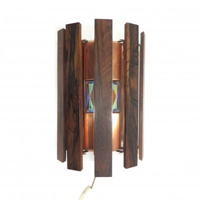 Vintage wall lamp by Werner Schou for Coronell Elektro Denmark, 1970s