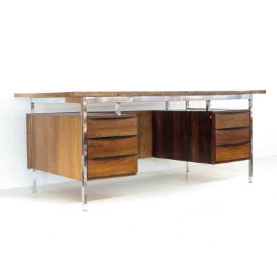 Large vintage Danish design desk from Planmöbel, 1960s