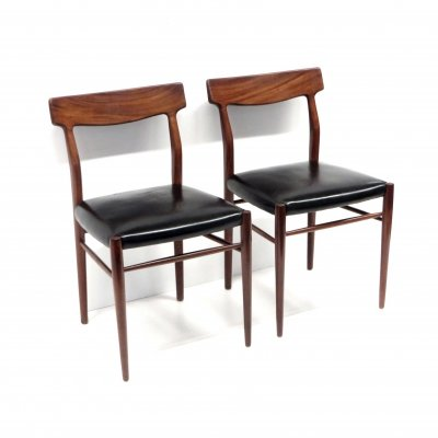 Set of 2 vintage chairs from Lübke, 1960s