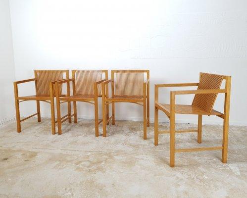 Rare set of vintage slats chairs by Ruud Jan Kokke for Metaform