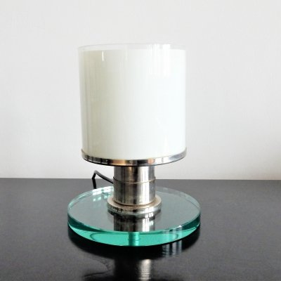 Crystal glass L20 table lamp by Otto Rittweger for Tecta, Germany 1920's