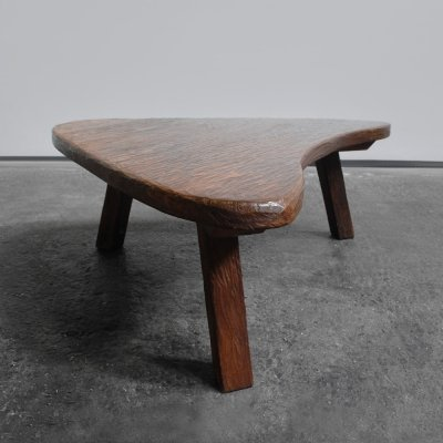 Robust coffee table with boomerang shaped top, 1970s