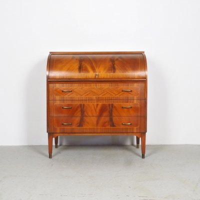Swedish Roll-Top Secretaire by Broderna Gustafssons, 1960s