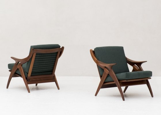 Pair of easy chairs by De Ster Gelderland, 1960s