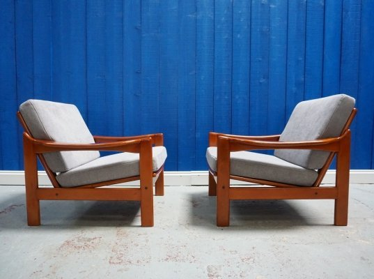 Pair of Mid Century Modern Danish Armchairs, 1960's